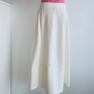ELITHABETH AND JAMES Midi Skirt in Ivory Sz 4